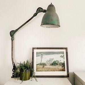 Lighthouse print in vintage frame